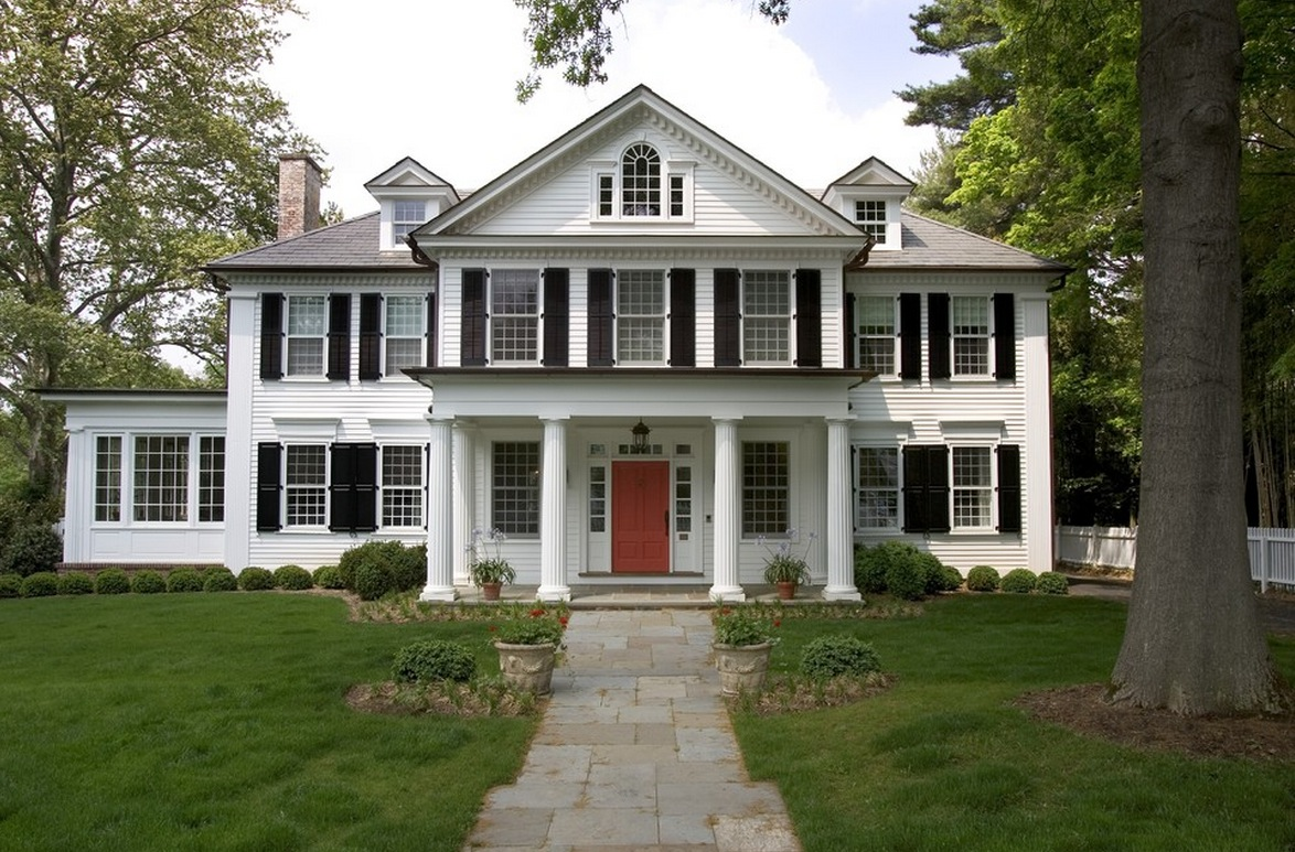 American iconic colonial design style contemporary this style of home