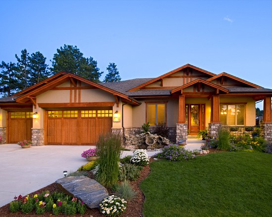 What type of home do you own lifestyle luxury for Craftsman landscape design ideas